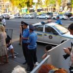Акция протеста на Крещатике
