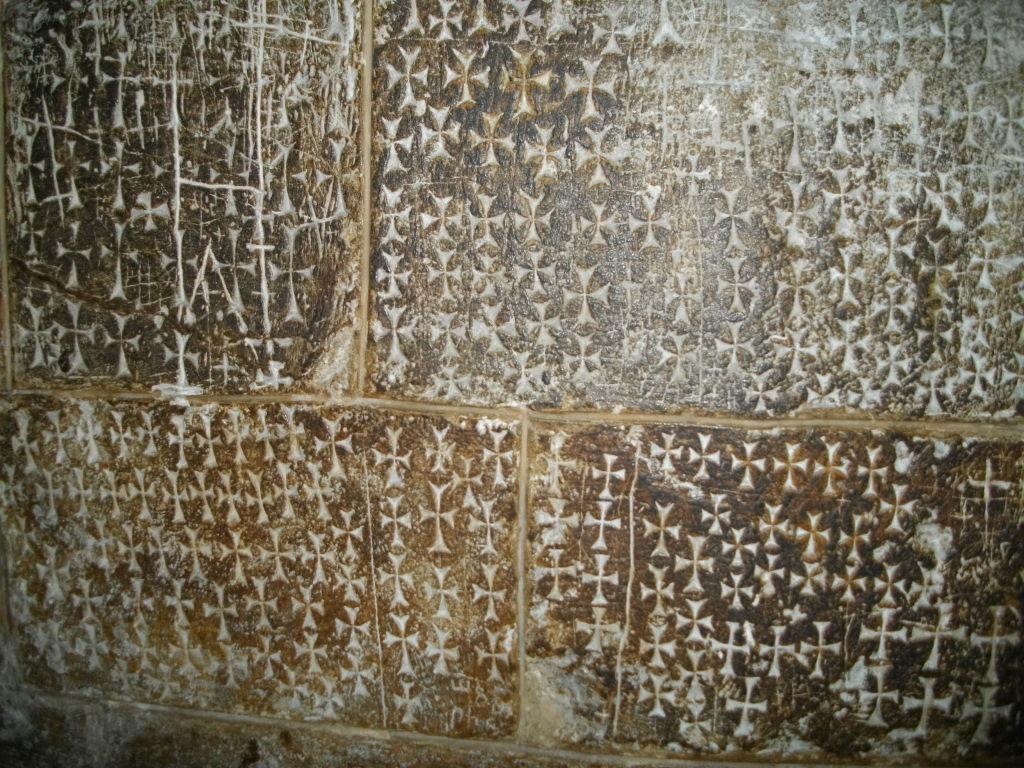 Автографы крестоносцев в храме Христа Спасителя