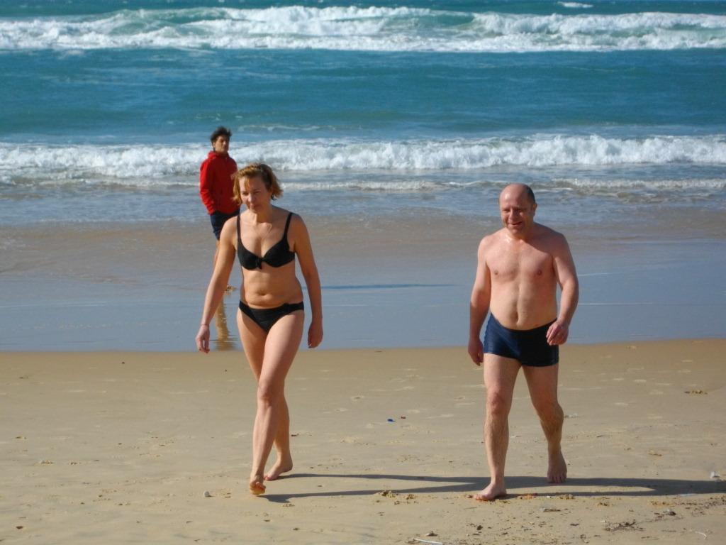 Мы с Аней на пляже в Бат-Яме