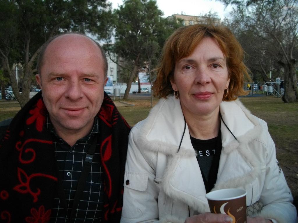 Мы с Аней в парке на берегу Средиземного моря в Бат-Яме