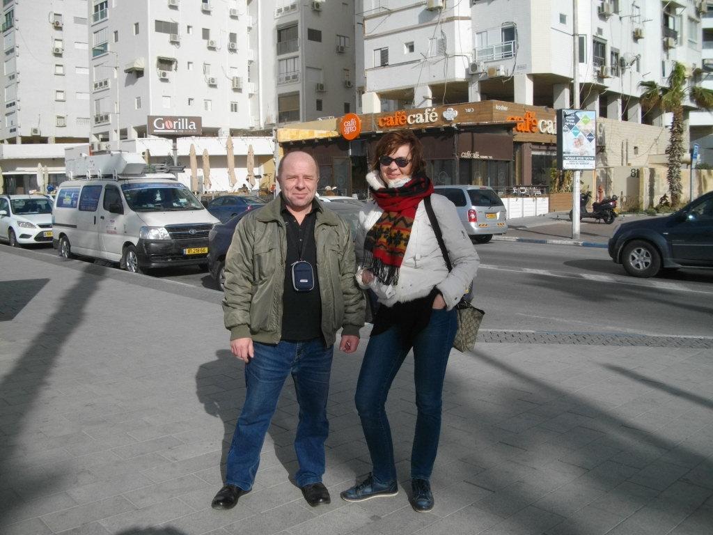 Мы с Аней в Бат-Яме в январе 2017 года