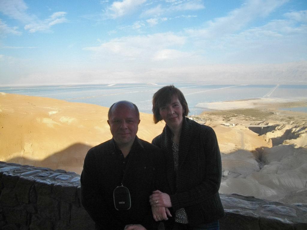 Мы с Аней на горе возле Мертвого моря