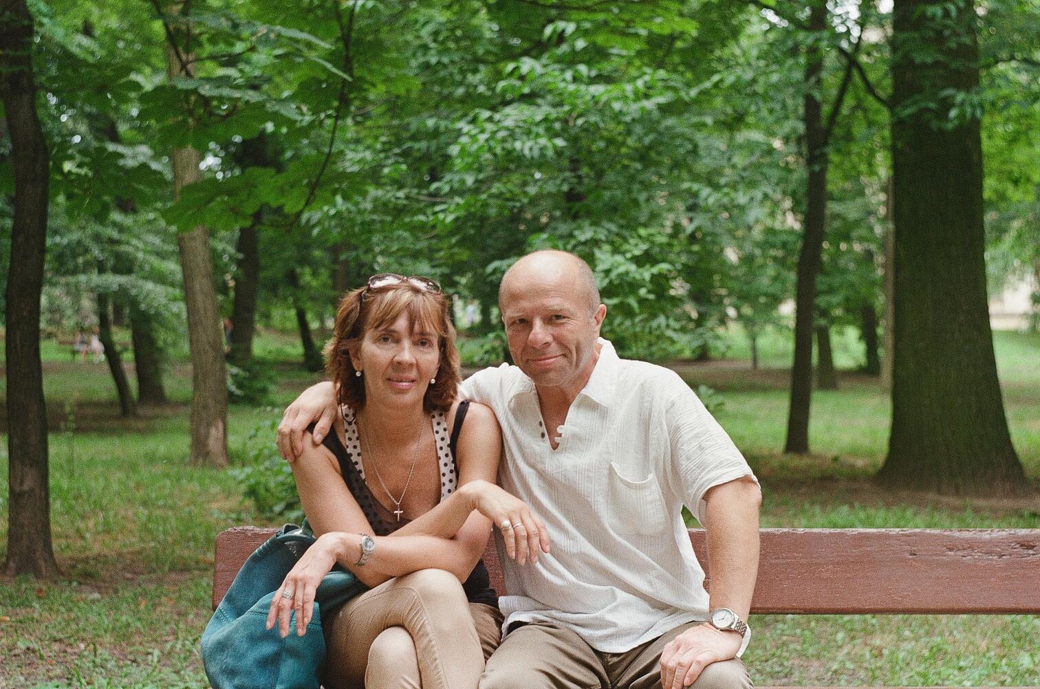 Юрий Павленко и Анна Носова в парке Политехнического института